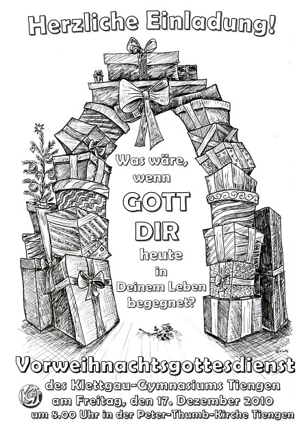 Plakat für den Vorweihnachtsgottesdienst am KGT 2010, (c) Niarts