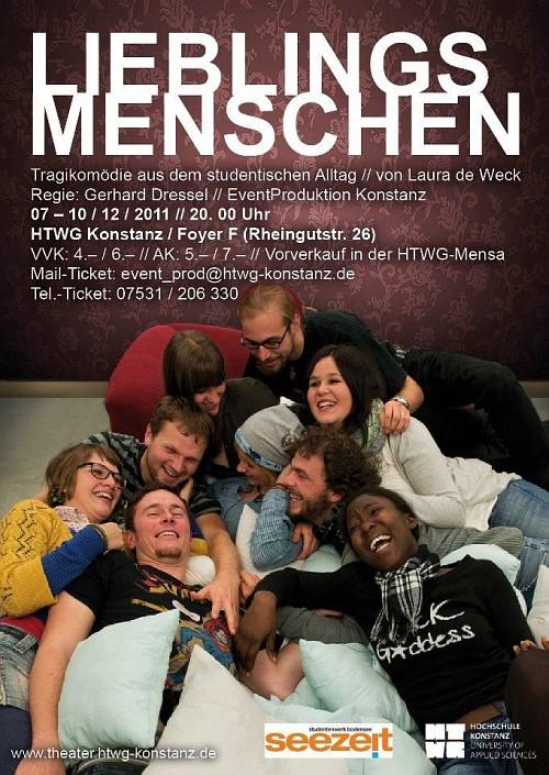 Plakat zur Theateraufführung 'Lieblingsmenschen'