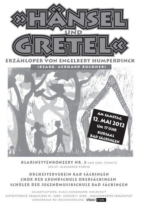 """Offizielles Plakat zu """"Hänsel und Gretel"""" am 12. Mai 2012."""