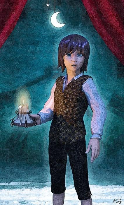 Samuel, ein junger Page im Dienst des Grafen, soll im Steampunk-Comic noch einige gruselige Abenteuer erleben.