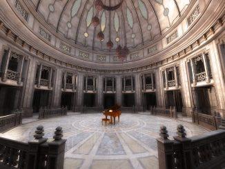 Dieses Jahr braucht man auch im Mai einen überdachten Tanzsaal. Hier ist er, nebst Klavier, in persisch anmutendem Stil.
