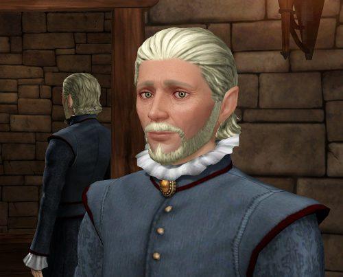 """Herrscher Ganinon der Erhabene - Charaktergesichter zu kreieren gelang mit """"Die Sims Mittelalter"""" besser als mit jeder anderen Version von """"Die Sims""""."""