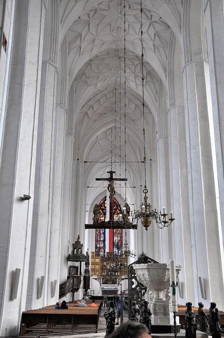 Hauptschiff der Basilika St. Marien in Danzig (Foto: Martin Dühning)