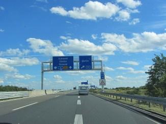 Fahrt über die Autobahnen Mecklenburg-Vorpommerns nach Berlin (Foto: Martin Dühning)