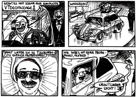 Ausschnitt aus den legendären ComiX der 1990er - mit Herrn Kremer als Batman