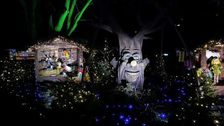Für die Kinder gab es einen bunt erleuchteten Märchengarten mit Weihnachtswichteln und einem Märchenerzählerbaum (Foto: Martin Dühning)