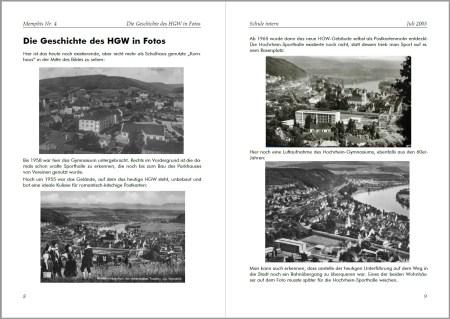 Lange vor dem offiziellen Schuljubiläum stellte die Memphis Nr. 4 die Geschichte des Hochrhein-Gymnasiums dar