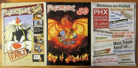 Die Phoenixen Nr. 58, 59, und Nr. 60 im 30. Jubiläumsjahr (Foto: Martin Dühning)