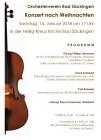 Plakat zum Orchesterkonzert nach Weihnachten 2018 (Quelle: Klaus Kunzmann)