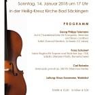 Einladung zum Orchesterkonzert nach Weihnachten
