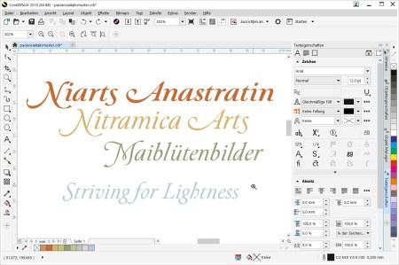 Paciencia Italic mit ein paar Opentype-Features (Grafik: Martin Dühning)