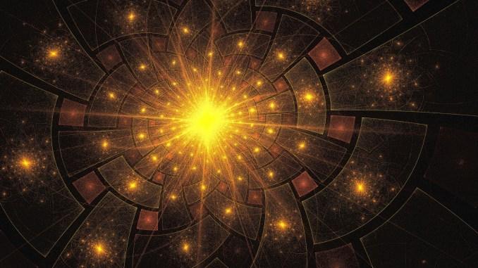 Sun shines again - Fraktal, erstellt mit Apophysis 7X 2020 (Grafik: Martin Dühning)