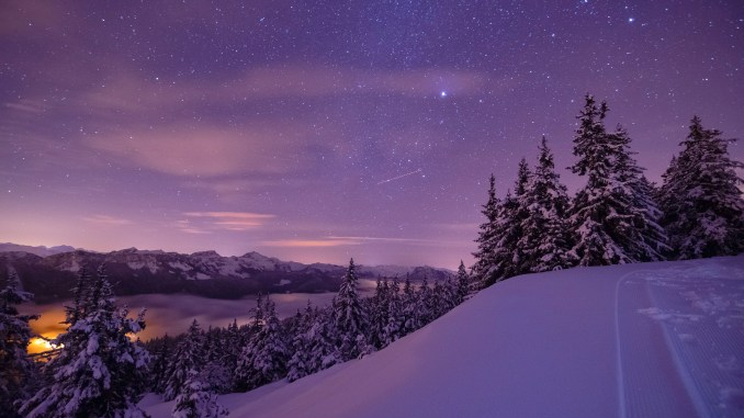 Winternacht (Foto: Martin Mariani via Pexels)