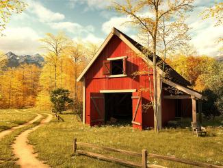 Autumnal Barn (Grafik: Martin Duehning)