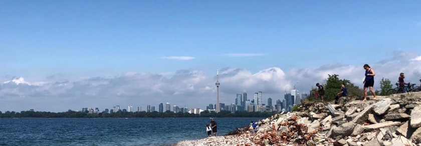 View of Toronto skyline from the end of the Leslie Street Spit