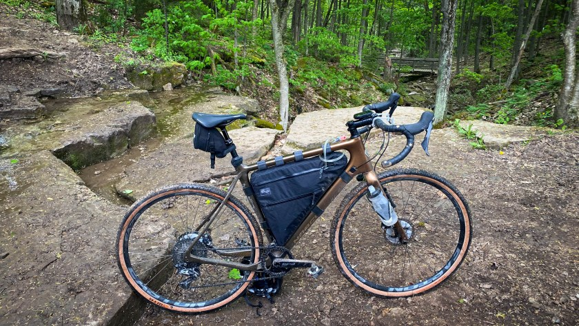 Field and Forest Frame Bag on my Norco Search while riding The Motherload Loop 2.