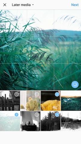 Compartir multiples fotos y videos en Instagram