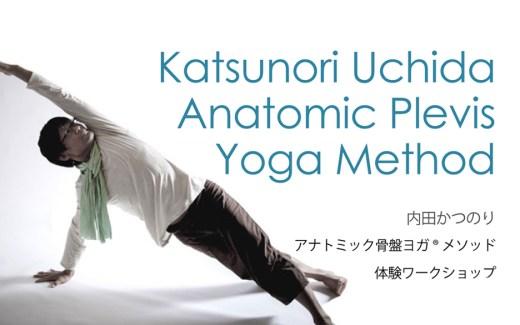 アナトミック骨盤ヨガ®ワークショップの画像。内田かつのり先生がサイドプランクのポーズをとっている様子