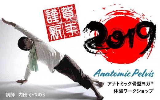 ヨガ解剖学講師内田かつのり先生のアナトミック骨盤ヨガワークショップ。2019年1月に開催される特別企画