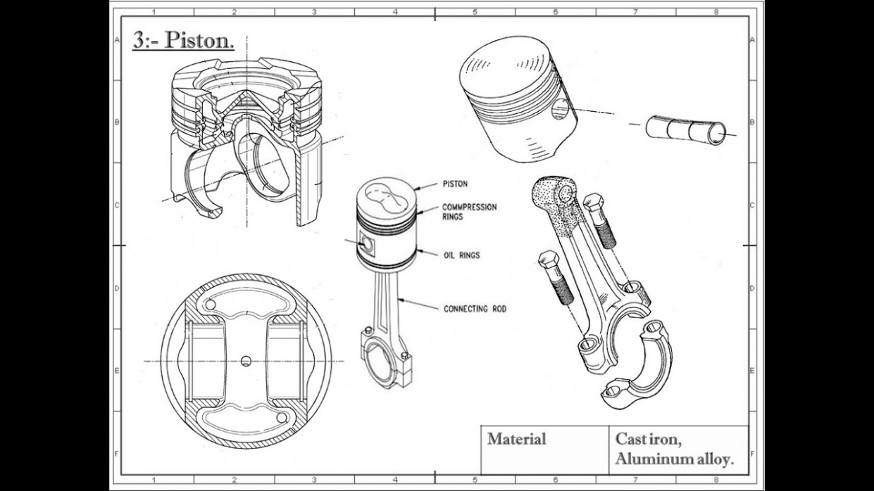 Ic Engine Components Simple Combustion Engine Diagram