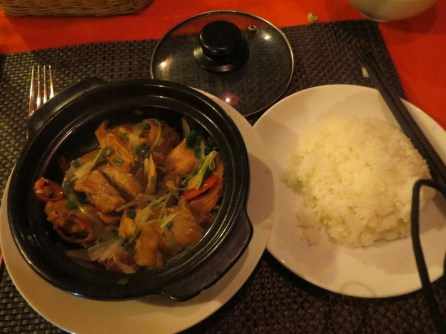 Amazing chicken claypot at well-reviewed restaurant