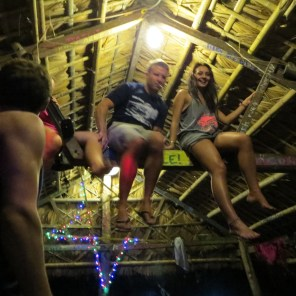 Partying on our private island