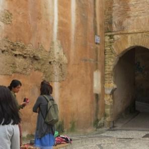 Old Granada city wall