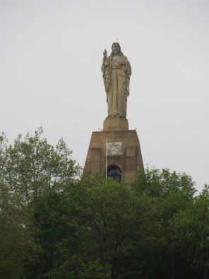Big statue high on hill taken with 12X camera zoom