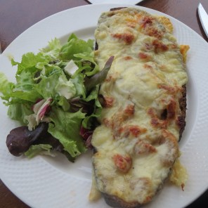 Delicious croque for lunch