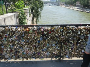 Bridge of locks on River Seine