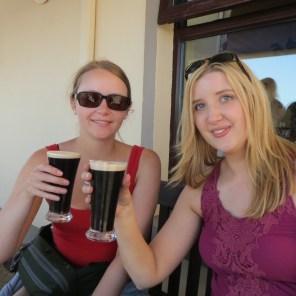 Aran Island Guinness - seeking shade!