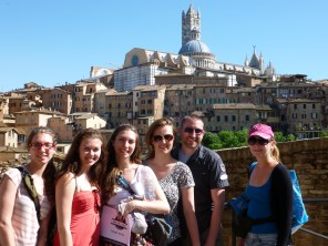 Group on a Taste of Tuscany tour, outside Siena