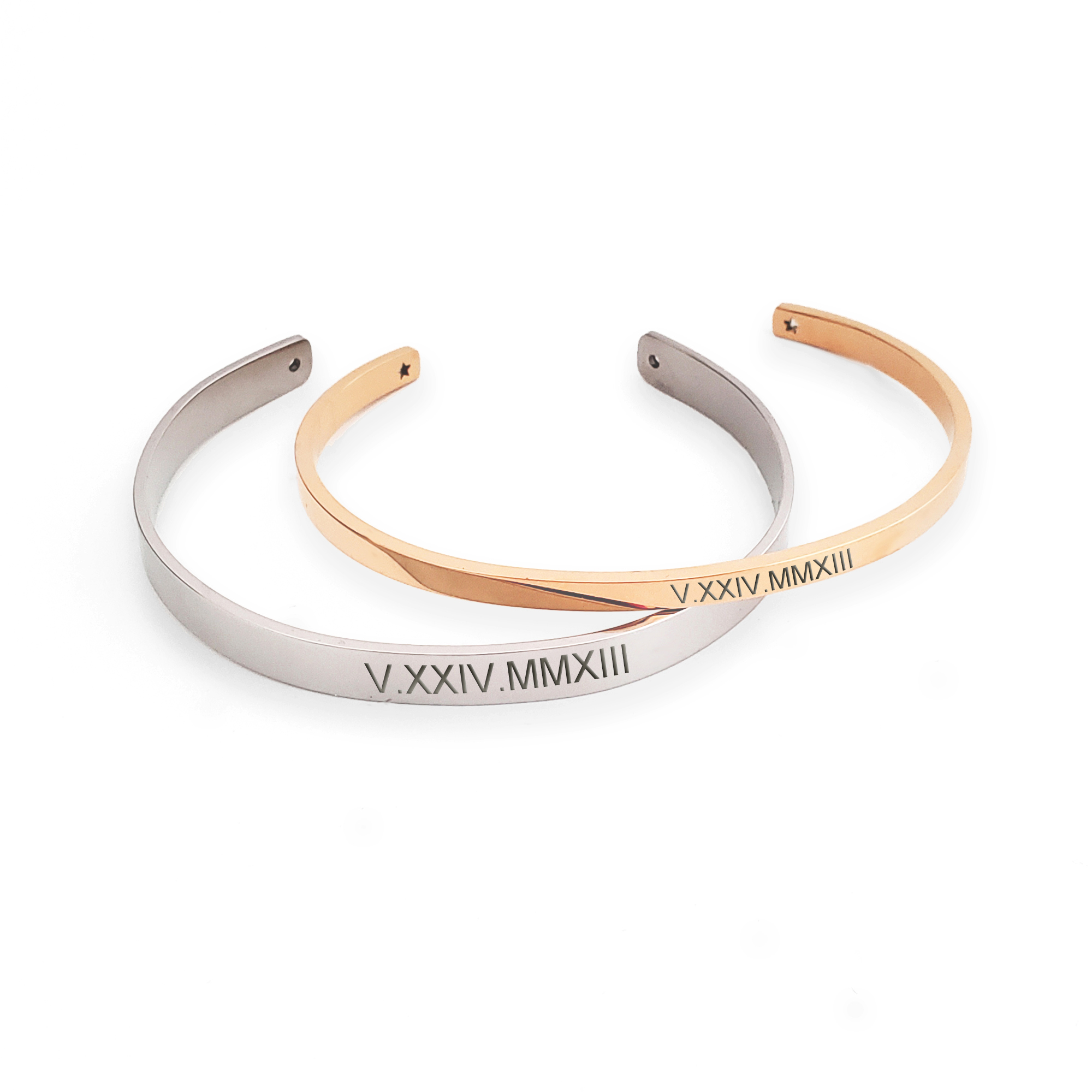 Wholesale Personalized Couple S Matching Roman Numerals