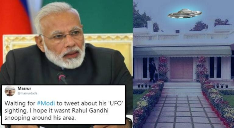 'UFO' sighted near PM Modi's residence. Twitterati Comes With Hilarious Tweets