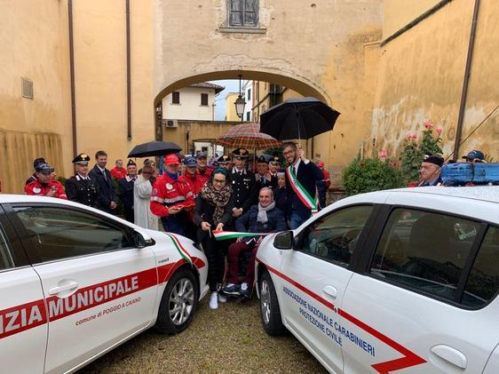 Un nuovo mezzo per l'associazione nazionale carabinieri di Carmignano
