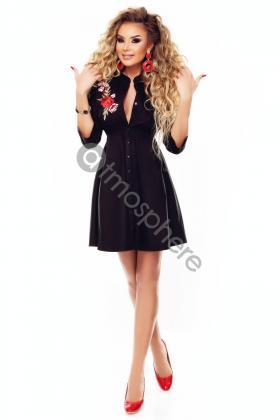 rochie-scurta-neagra-cu-broderie-florala-1-10