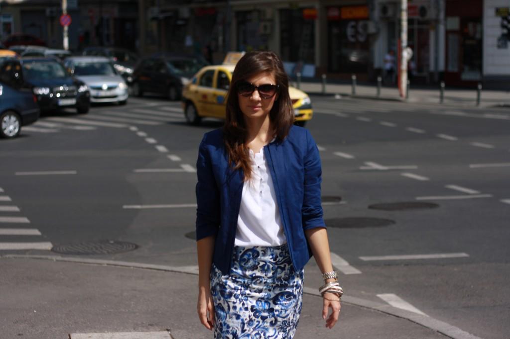 Fashion blog sacou albastru