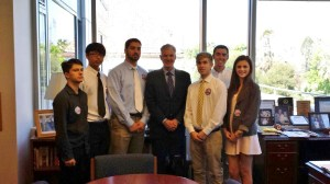 San Marino Students with Superintedent Torlakson