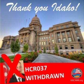 Thank You Idaho HCR037 Graphic