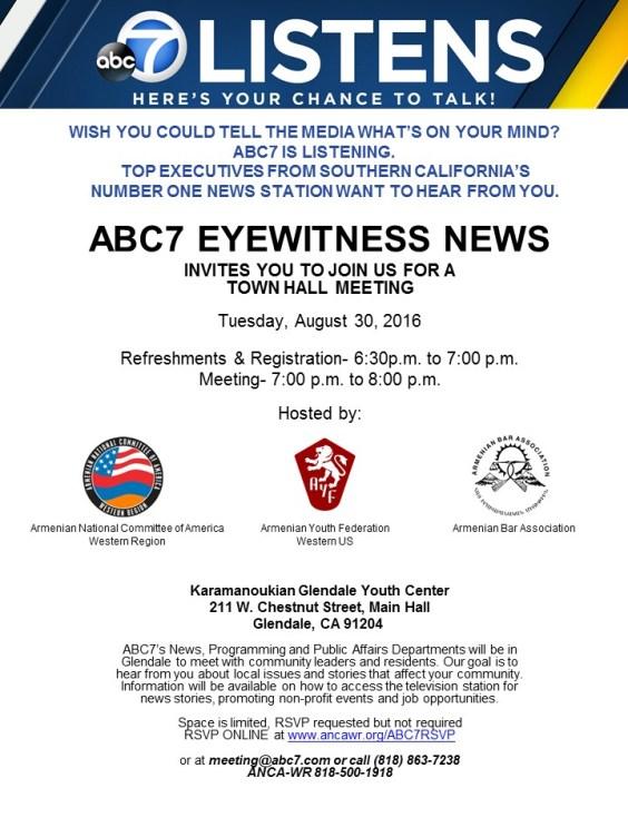 ABC Listens-ARMENIAN NATIONAL COMMITTEE