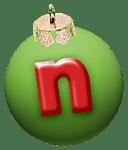 alphabet-boule-noel-vert-n