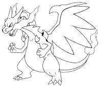 Coloriage Pokemon Mega Dracaufeu X Coloriage Pokemon