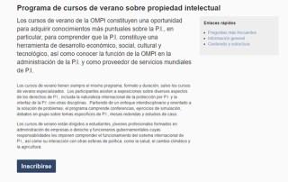 Curso de Verano de la de la Organización Mundial de Propiedad Intelectual 2018 en Madrid