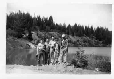 Donald, David, Tim, Anne, Cliff lake new La Port CA