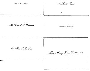 Page from Photo Album with Calling Cards