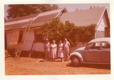 Van, G'ma Van, Jeannette, Tim in Challenge with Volksey