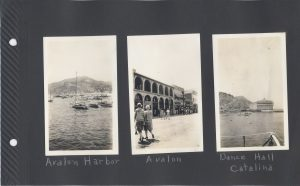 Avalon and the harbor, and the dance hall at Catalina.