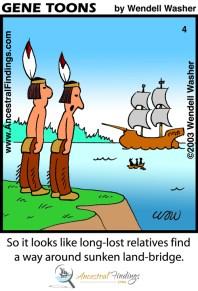 So It Looks Like Long-lost Relatives Found A Way Around Sunken Land-Bridge (Genetoons Cartoon #004)