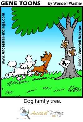 Dog Family Tree (Genetoons Cartoon #009)