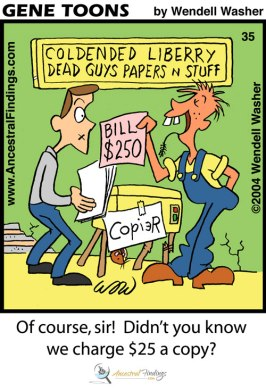Of Course, Sir! Didn't You Know We Charge $25 per Copy? (Genetoons #35)
